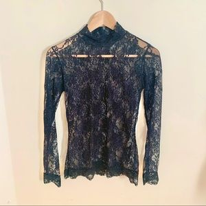 2/$20 Black Forever 21 Lace Top